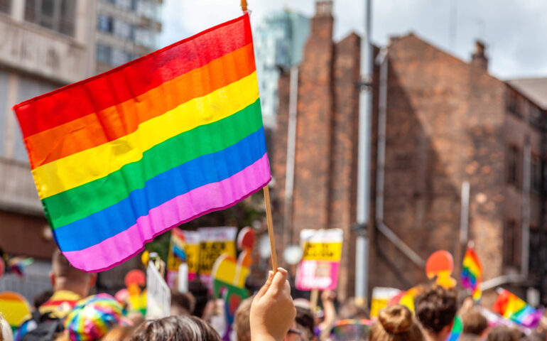 Rainbow Flag during pride