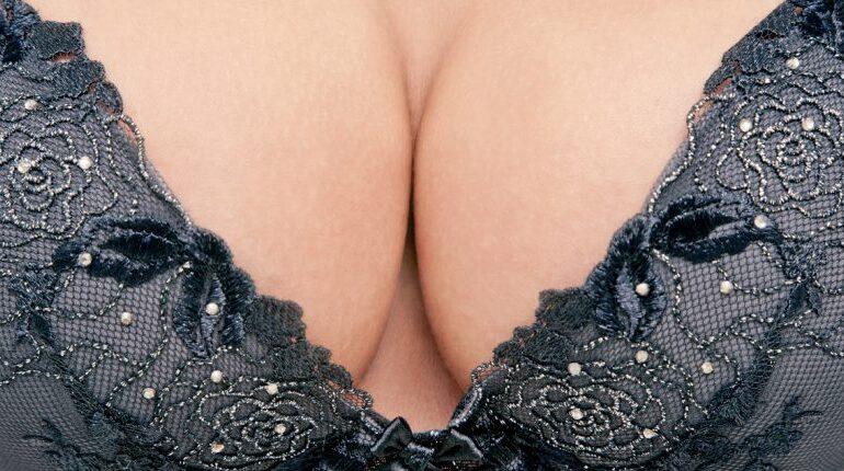 breasts in bra
