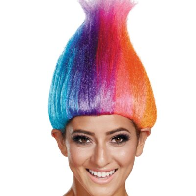 Woman with colourful hair
