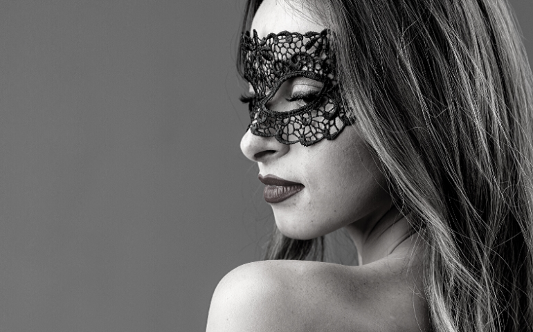 Women with mask