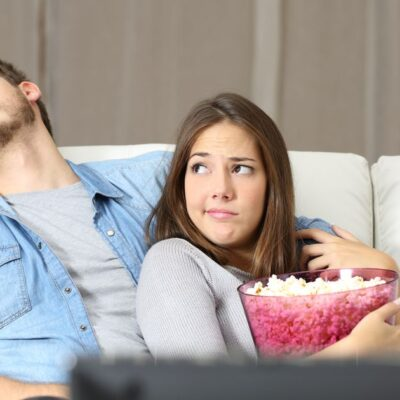 Man and woman on the couch