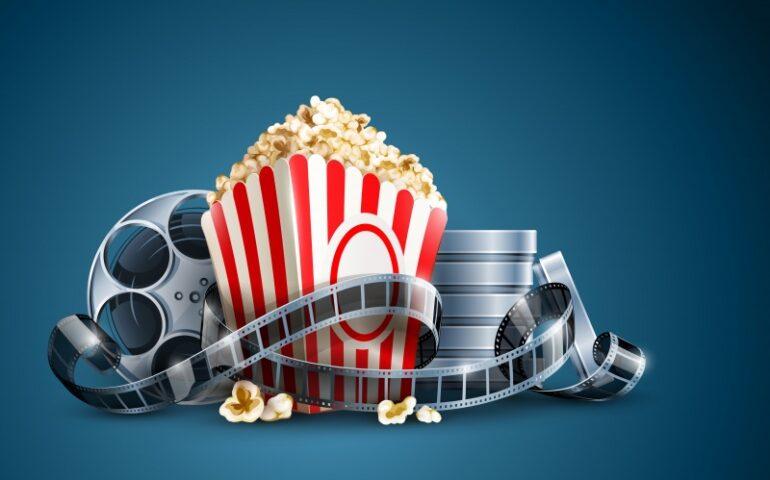 Popcorn en een filmblik