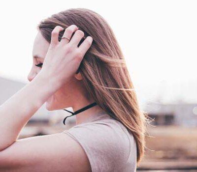 Vrouw met lang haar